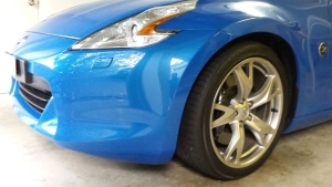 Nissan 370z front bumper bar scratch repair